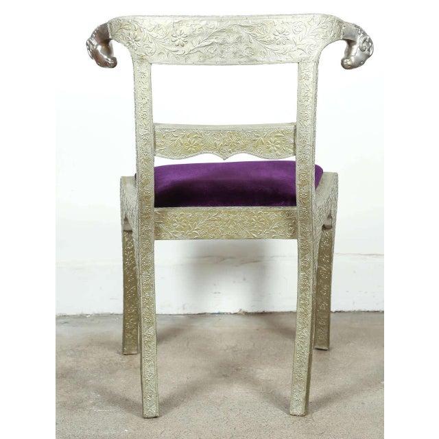 Metal Anglo Raj Wedding Side Chair For Sale - Image 7 of 8