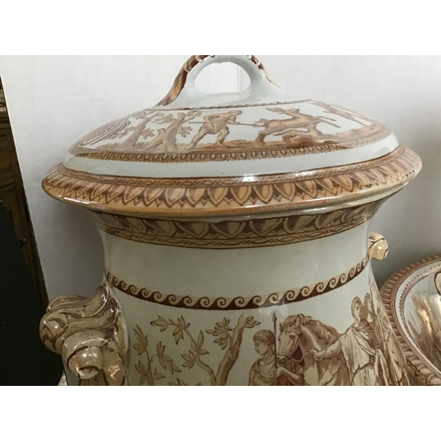 1800s Greek Roman Emperor Chamber Pot Pitcher Bathroom Set - 7 Pieces For Sale - Image 12 of 13
