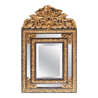 19th Century Flemish Baroque Style Cushion Mirror For Sale