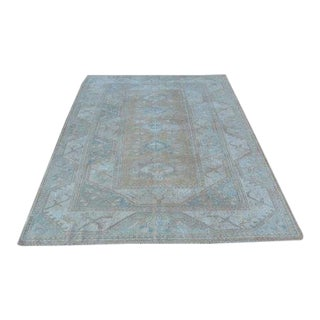 1960s Vintage Turkish Oushak Rug - 5′4″ × 7′8″ For Sale