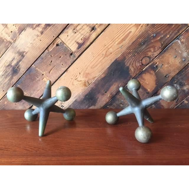 Vintage Brass Jacks Bookends - A Pair - Image 2 of 4