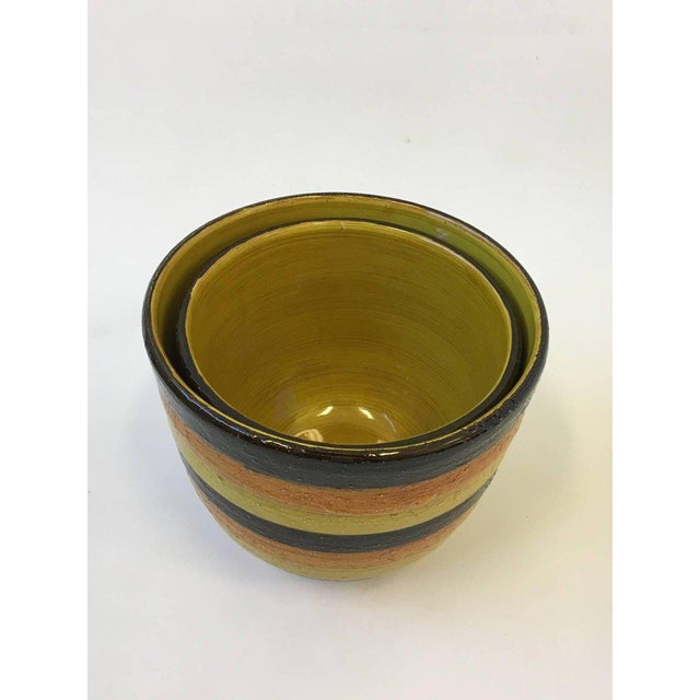 Pair of Italian Ceramic Planters by Bitossi for Rosenthal For Sale In Palm Springs - Image 6 of 7