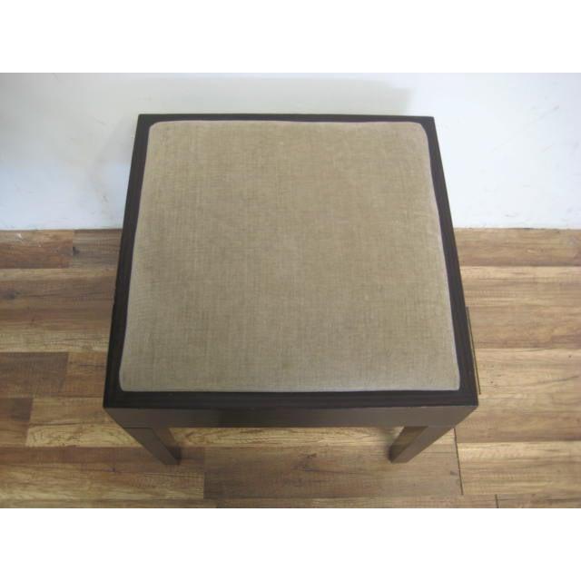 Amtrend Dark Wood Finish/Grey Upholstery Stool - Image 5 of 7