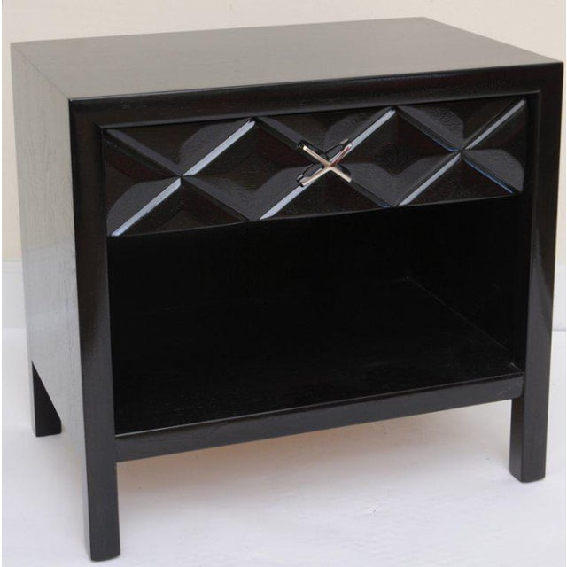 Metal Mid-Century Modern Signed John Widdicomb Night Stands/End Tables - a Pair For Sale - Image 7 of 11