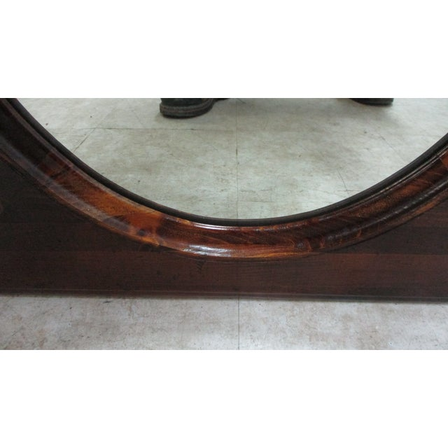 Ethan Allen Old Tavern Pine Console Dresser Hanging Wall Mirror For Sale In Philadelphia - Image 6 of 11