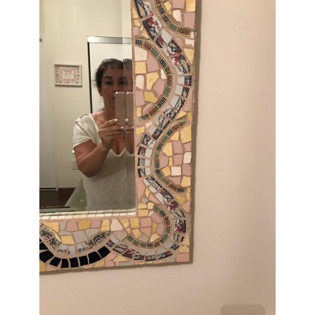 Custom Made Mosaic Mirror - Image 5 of 6
