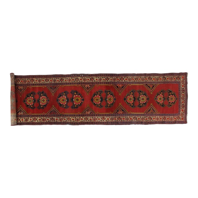 1920s Leon Banilivi Vintage Persian Mishan Malayer Rug - 3′8″ × 15′5″ For Sale