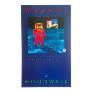 "Andy Warhol Estate Rare Vintage 1989 1st Edition Original Lithograph Print Pop Art Poster "" Moonwalk "" 1987 For Sale"