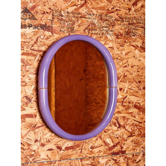 Contemporary Entler Studio Purple Ceramic Mirror For Sale - Image 3 of 3
