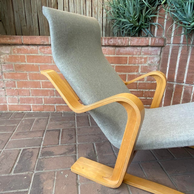 Wood 1980s Marcel Breuer Chaise Lounge For Sale - Image 7 of 13