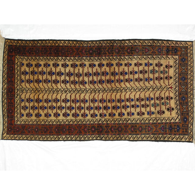 "Boho Chic Leon Banilivi Persian Baluch Rug - 3'5"" X 6'3"" For Sale - Image 3 of 5"