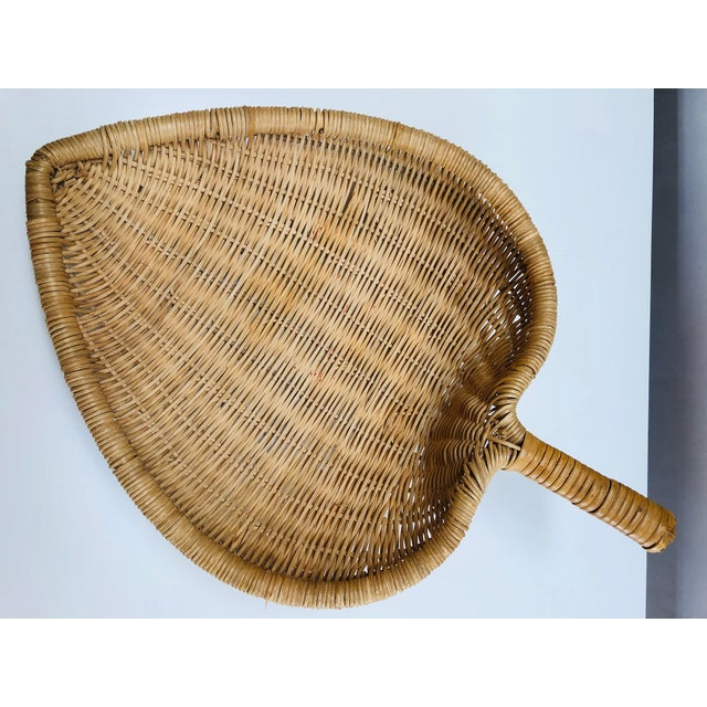 1960s Boho Chic Wicker Basket With Handle For Sale - Image 10 of 11