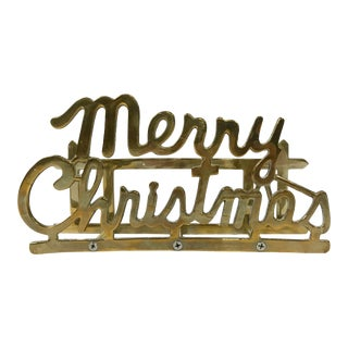 Brass Christmas Card Holder For Sale