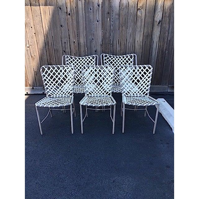 Modern Vintage Brown Jordan Patio Chairs - Set of 5 For Sale - Image 3 of 8