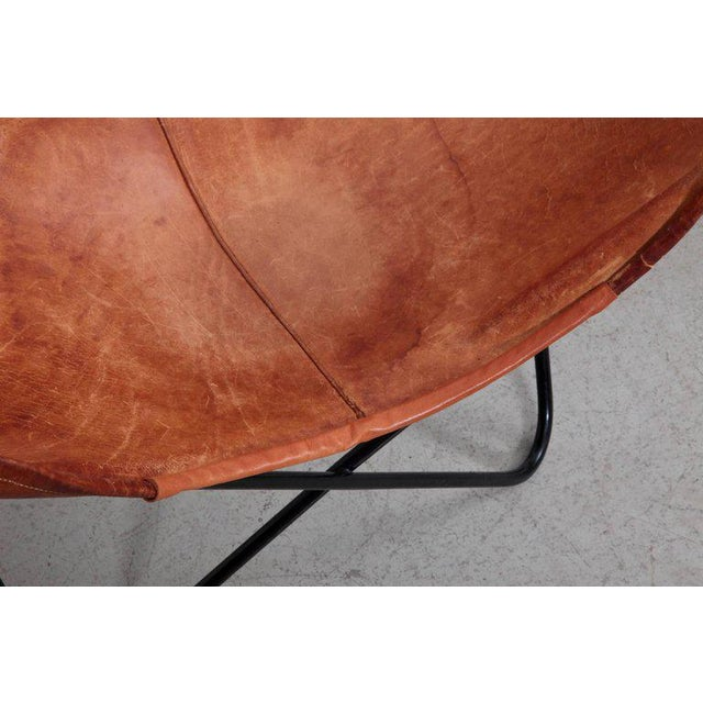 Rare Matched Pair of Ferrari Hardoy Butterfly Chairs for Knoll For Sale - Image 6 of 9