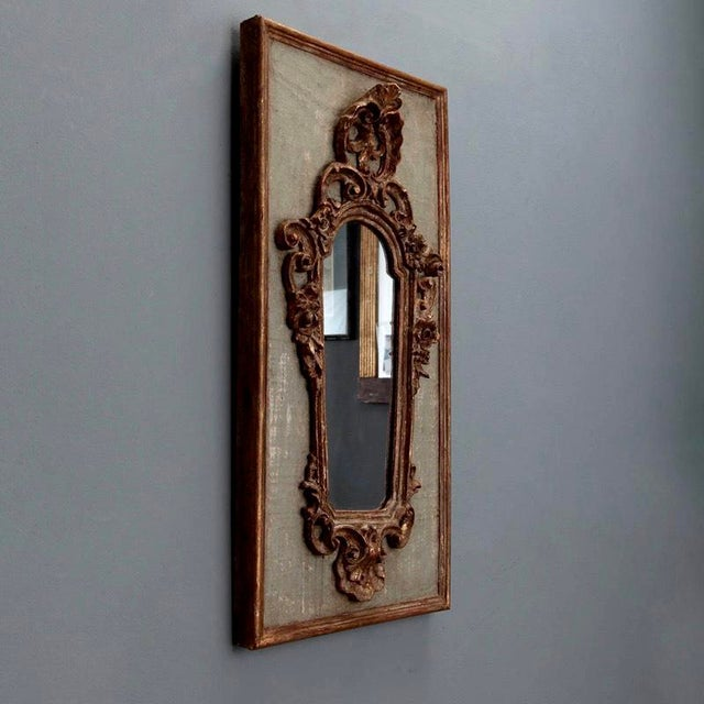 Pair 19th Century Italian Sconces With Carved Mirror and Gesso Frames - Image 8 of 10