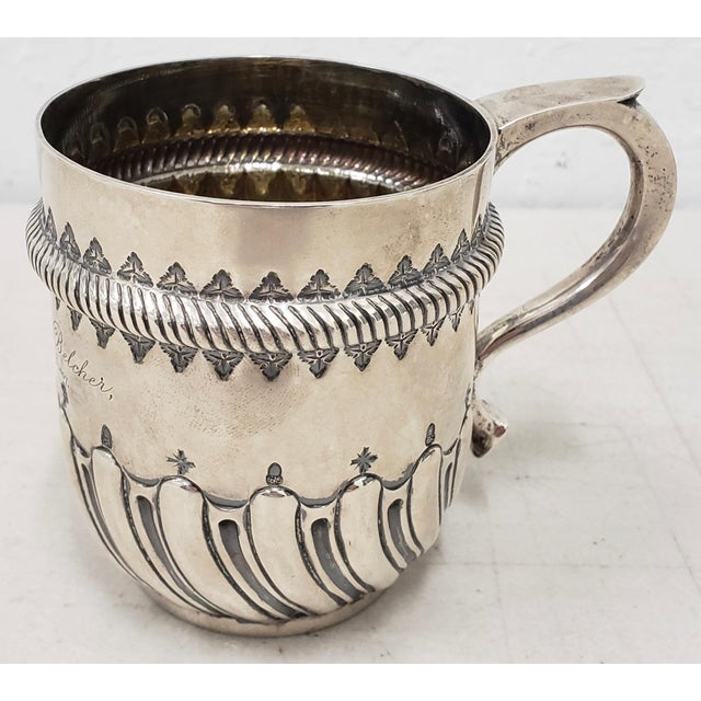Late 19th Century Hand Tooled Sterling Silver Christening Cup C.1897 For Sale In San Francisco - Image 6 of 12