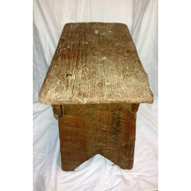 Farmhouse Primitive Cricket Farm Stool For Sale - Image 3 of 7