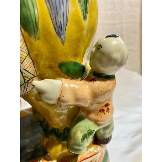 Ceramic Chinese Foo Dog Candlesticks - a Pair For Sale - Image 7 of 13