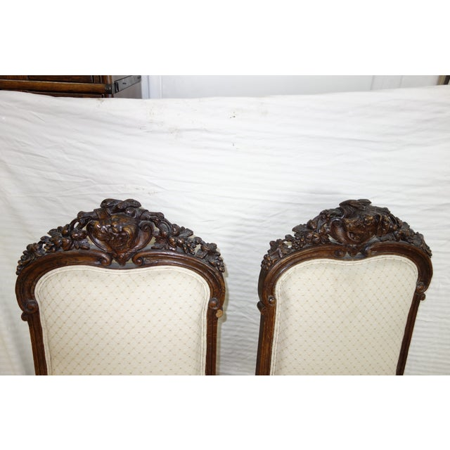 Pair 19th Century Traditional Carved Dog Head Chairs For Sale - Image 9 of 13