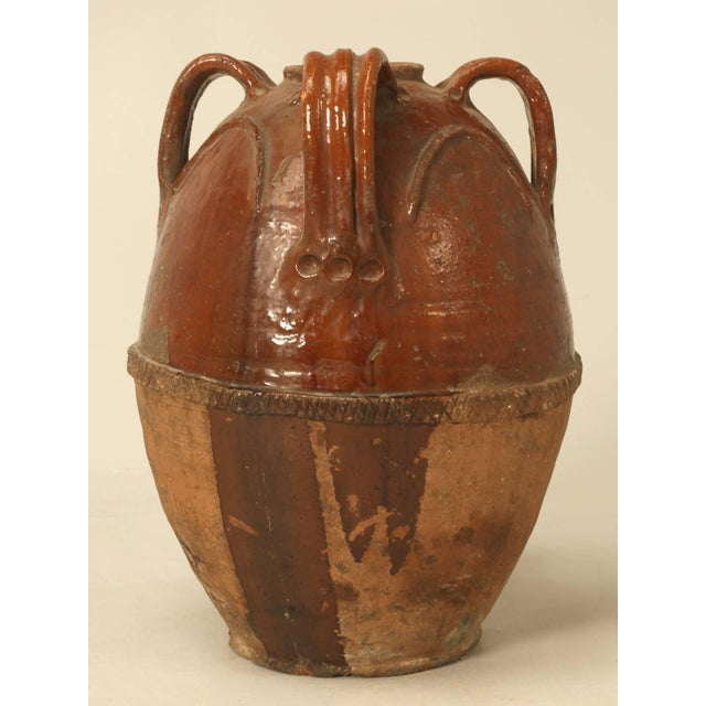 Brown Antique French Pottery in a Large-Scale For Sale - Image 8 of 9