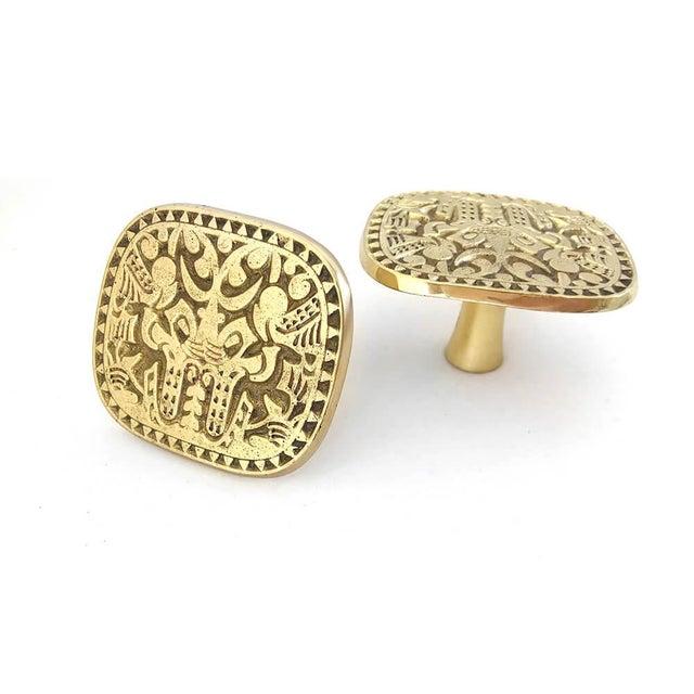 Addison Weeks Michelle Nussbaumer Maya Pull, Brass - a Pair For Sale - Image 4 of 6