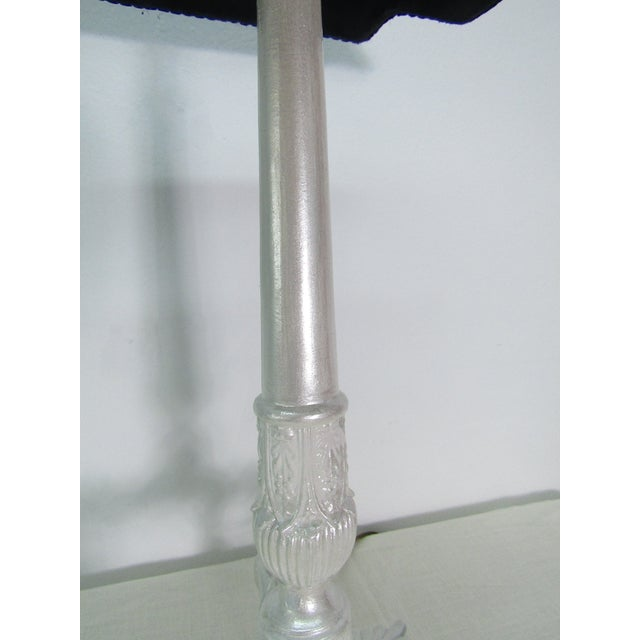 1980s Brass Lamp in Pearlescent Finish With Bell Shade For Sale In West Palm - Image 6 of 7