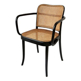 Thonet Bentwood and Cane Armchair, Austria For Sale
