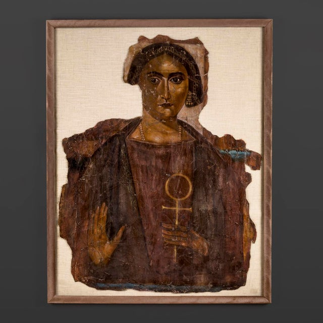 The ancient egyptians pioneered the practice of painting on linen because flax, from which linen is woven, lacks mordents...