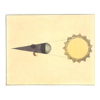 Astronomy, Lunar Eclipse, Moon, Antique Print 1845, Matted For Sale