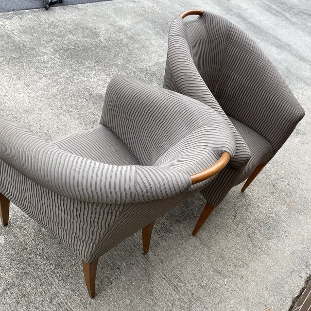 John Hutton for Donghia Plato Mod Barrel Chairs - a Pair For Sale - Image 10 of 13