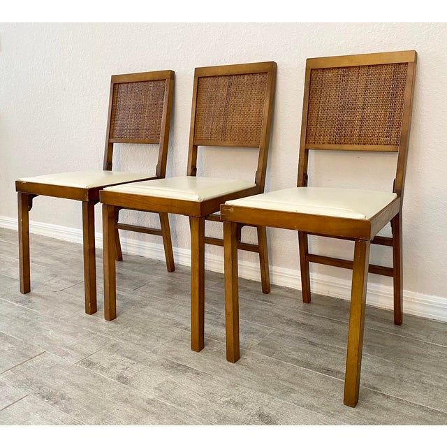 Mid-Century Modern Mid Century Modern Leg-O-Matic Folding Chairs - Set of 3 For Sale - Image 3 of 6