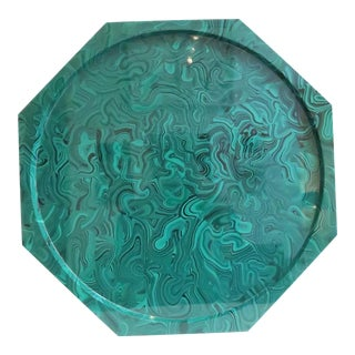 Plastic Malachite Lazy Susan Tray