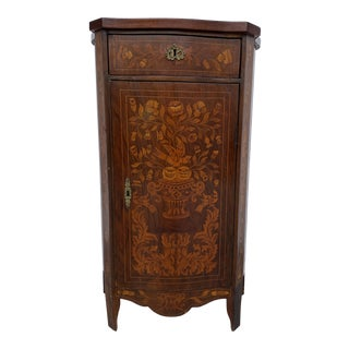 Artisan Marquetry Entry Table With a Lot of Designs For Sale