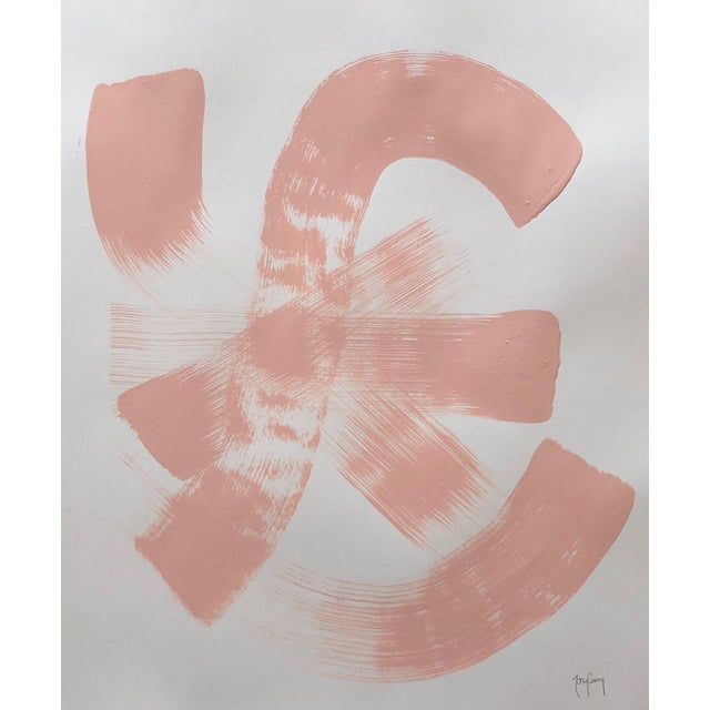 """Blush-Tastic"" Modern Abstract Painting by Tony Curry For Sale"