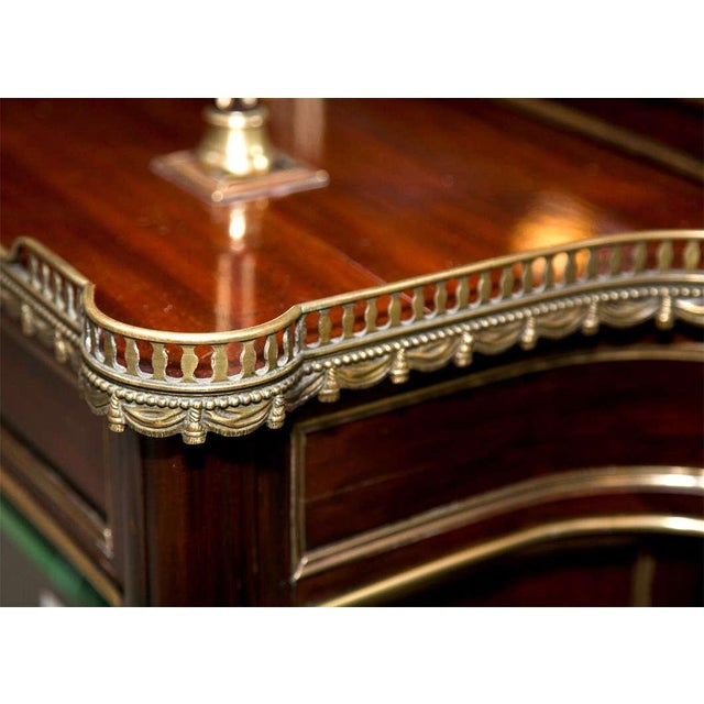 French Louis XIV Style Mahogany Server Cabinet Buffet Cupboard by Maisen Jansen - Image 4 of 8