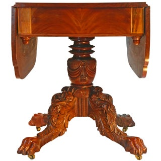 Late 19th Century Antique American Mahogany Pembroke Table For Sale