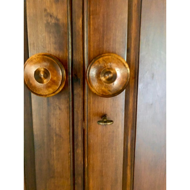 Jim Peed for Romweber Rustic Hardwood Armoire For Sale - Image 11 of 13