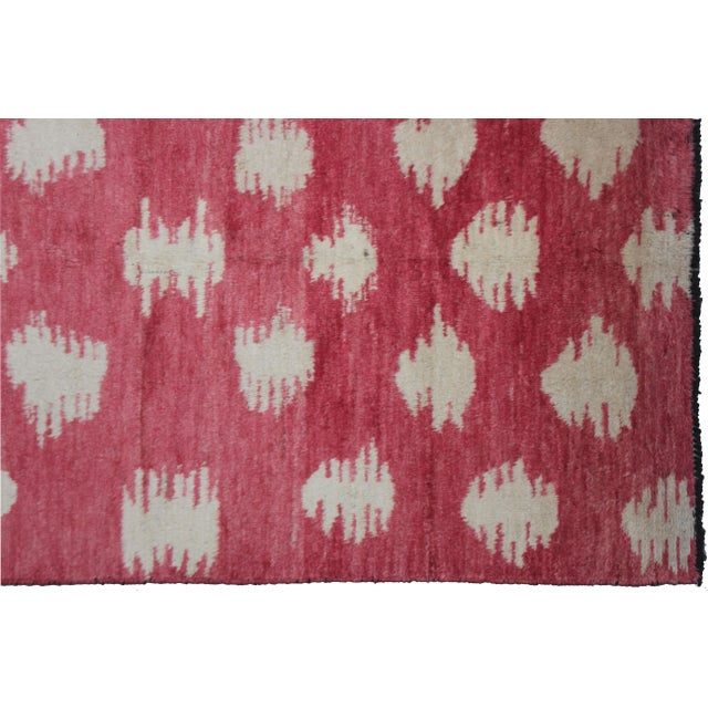"Aara Rugs Inc. Hand Knotted Ikat Rug - 10'0"" X 6'1"" For Sale - Image 4 of 4"