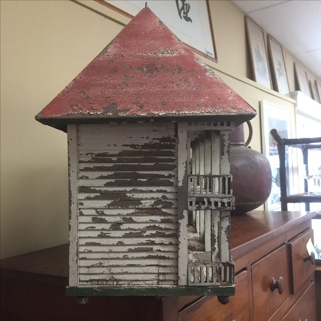 Folk Art Bird House - Image 4 of 6