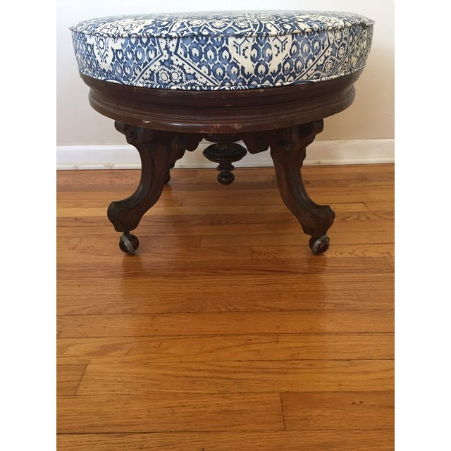 White Ralph Lauren Upholstered Antique Ottoman For Sale - Image 8 of 11