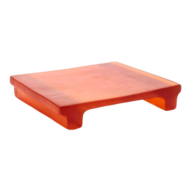 Dinosaur Designs Amber Resin Cheese Platter / Tray For Sale