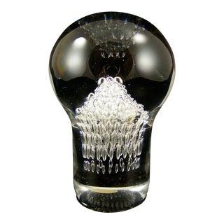 Goran Warff for Kosta Crystal Paperweight For Sale