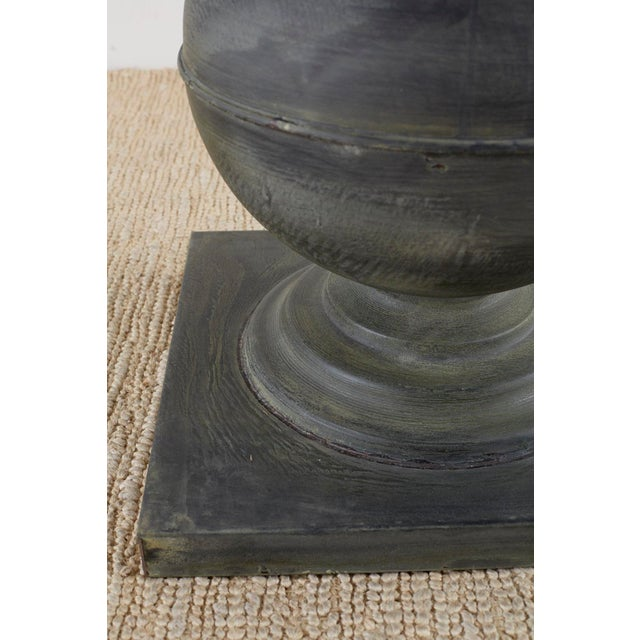 Neoclassical Patinated Metal Pedestal Dining or Centre Table For Sale - Image 11 of 13
