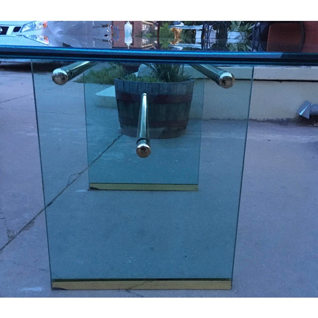 1970s Glass and Brass Mid-Century Modern Dining Table by Pace For Sale - Image 5 of 13