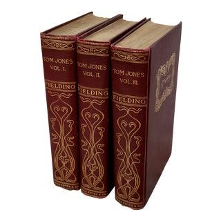 Gilt Embellished Vintage Books/Set of 3 For Sale