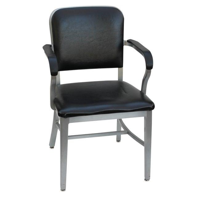 Industrial aluminum arm chair chairish
