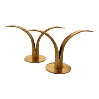 Ystad Swedish Lily Candle Holders - A Pair