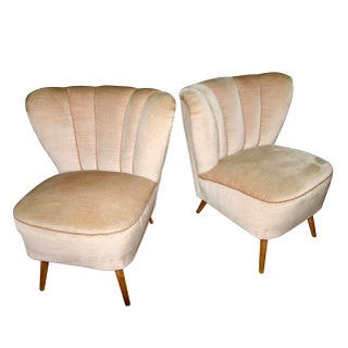 Vintage Mid Century Modern Boudoir Chairs- A Pair Preview
