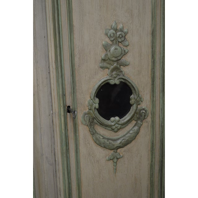 18th Century French Louis XV Period Hand Painted Long Case Clock For Sale - Image 9 of 13